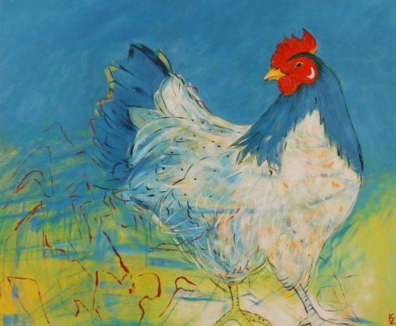 blauwe kip